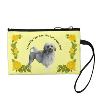 Lowchen and Yellow Roses Coin Purse