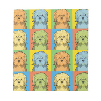 Löwchen Dog Cartoon Pop-Art Notepad
