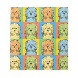 Löwchen Dog Cartoon Pop-Art Notepads