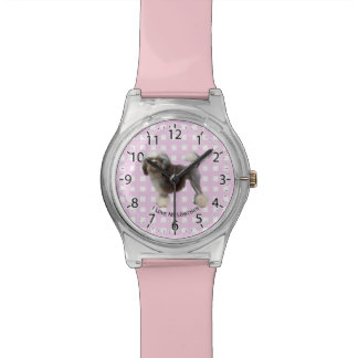 Lowchen on Pink Gingham Watch