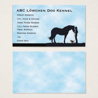 Lowchen Western Silhouette Business Card