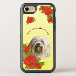 Lowchen, with Red Roses on yellow OtterBox Symmetry iPhone 8/7 Case