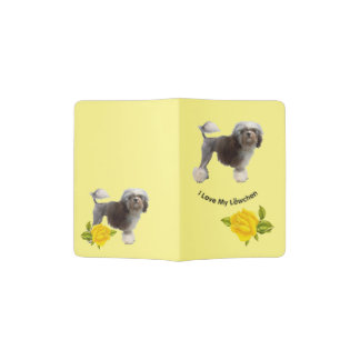 Lowchen with Yellow Roses Passport Holder