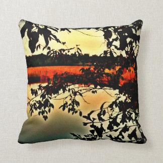 Lowcountry Marsh Scene Throw Pillow