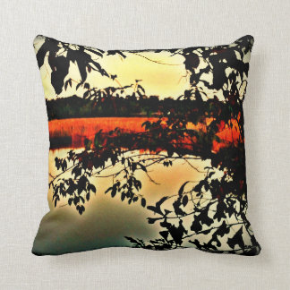 Lowcountry Marsh Scene Throw Pillow Cushions
