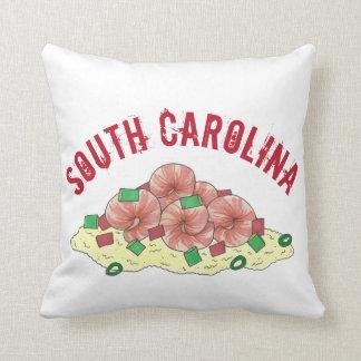 Lowcountry South Carolina SC Shrimp and Grits Food Cushion