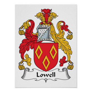 Lowell Family Crest Print