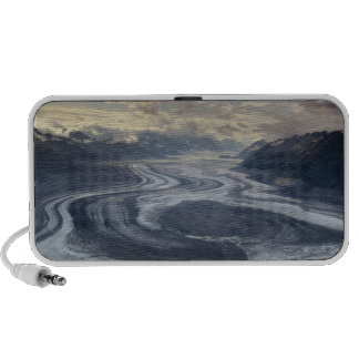 Lowell Glacier flows into the Alsek River in Laptop Speaker