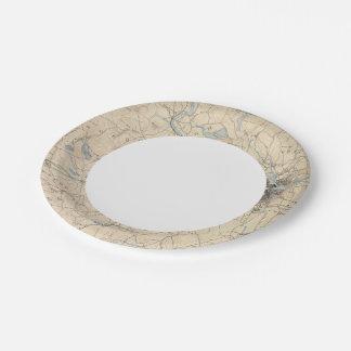 Lowell, Massachusetts 7 Inch Paper Plate