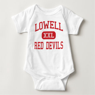 Lowell - Red Devils - High School - Lowell Indiana Baby Bodysuit