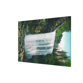 Lower Bridal Veil Falls on Colubia River Gallery Wrap Canvas