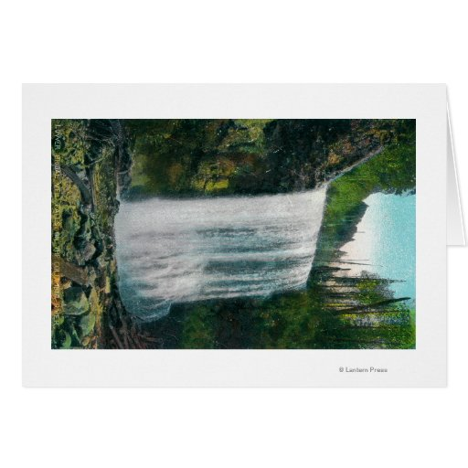 Lower Bridal Veil Falls on Colubia River Greeting Cards