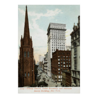 Lower Broadway NY 1897 Vintage Posters
