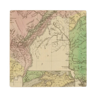 Lower Canada and New Brunswick Wood Coaster