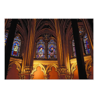 Lower chapel of La Sainte-Chapelle, Paris, 2 Photo Print