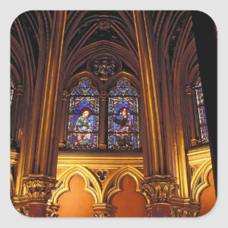 Lower chapel of La Sainte-Chapelle, Paris, 2 Square Sticker