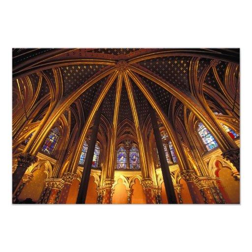 Lower chapel of La Sainte-Chapelle, Paris, Photo Print