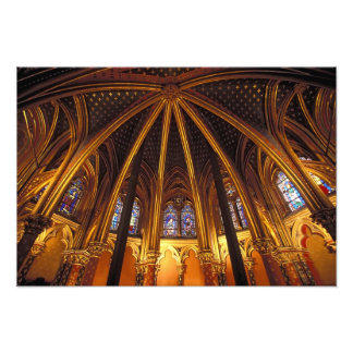 Lower chapel of La Sainte-Chapelle, Paris, Photo Print