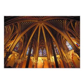 Lower chapel of La Sainte-Chapelle, Paris, Photographic Print