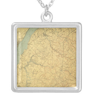 Lower Delaware Silver Plated Necklace