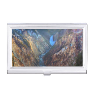 Lower Falls from Artist's Point Business Card Holder