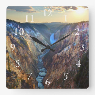 Lower Falls from Artist's Point Square Wall Clock