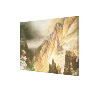 Lower Falls, Grand Canyon of the Yellowstone Canvas Print