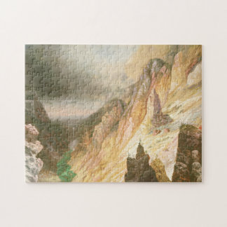 Lower Falls, Grand Canyon of the Yellowstone Jigsaw Puzzle