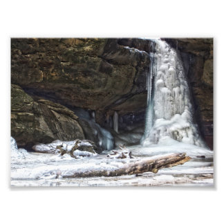 Lower Falls in Winter, Conkle's Hollow, Ohio Photo Print