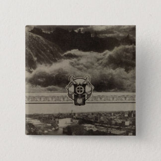 Lower Falls, Spokane 15 Cm Square Badge