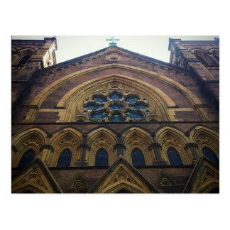 Lower Manhattan Catholic Church Architecture Postcard