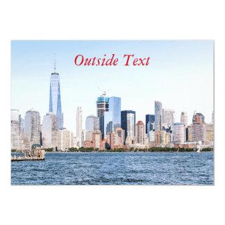 Lower Manhattan Color Sketch Invitation