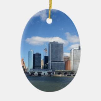 Lower Manhattan Skyline Christmas Ornament