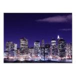 Lower Manhattan Skyline, New York City 14 Cm X 19 Cm Invitation Card