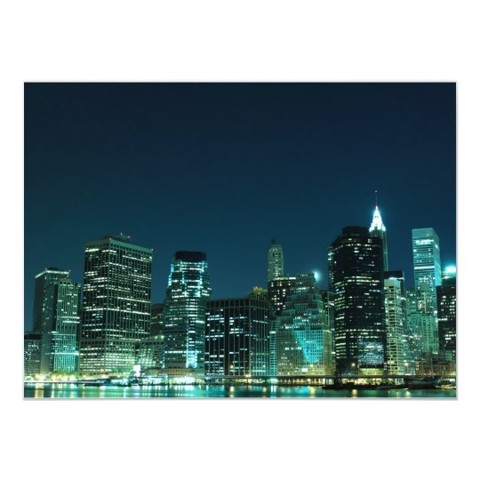 Lower Manhattan Skyline, New York City 14 Cm X 19 Cm Invitation Card