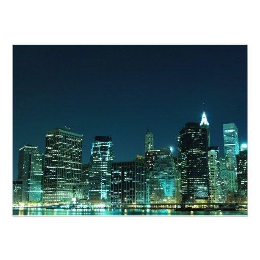 Lower Manhattan Skyline, New York City Personalized Invite