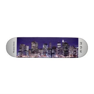 Lower Manhattan Skyline , New York City 20.6 Cm Skateboard Deck