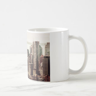 Lower Manhattan Skyline - View from Midtown Coffee Mug