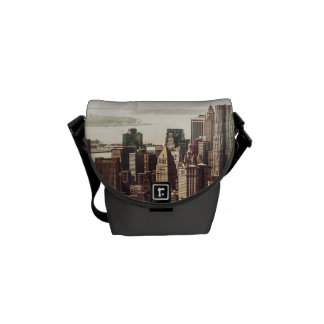 Lower Manhattan Skyline - View from Midtown Courier Bag