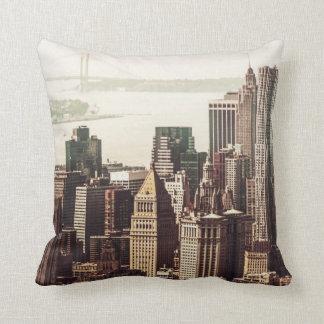 Lower Manhattan Skyline - View from Midtown Cushion
