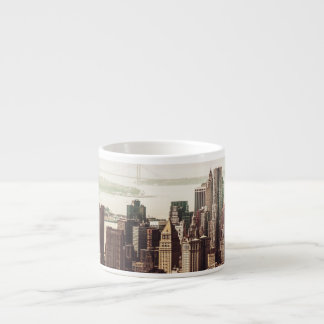 Lower Manhattan Skyline - View from Midtown Espresso Cup