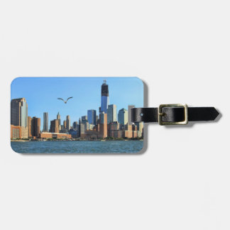 Lower Manhattan Skyline WTC Woolworth Travel Bag Tag