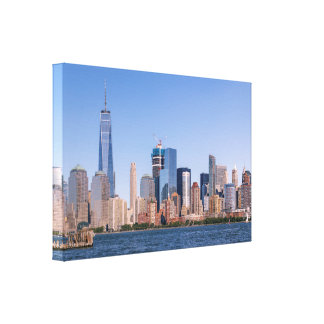 Lower Manhattan Wrapped Canvas Canvas Print