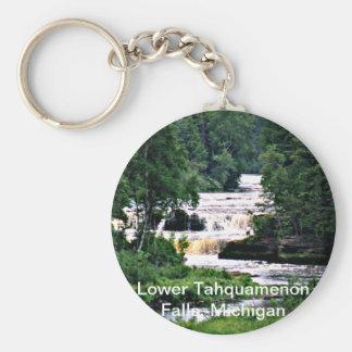 Lower Tahquamenon Falls, Michigan Basic Round Button Key Ring