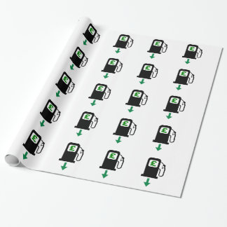 Lower UK Petrol Prices Wrapping Paper