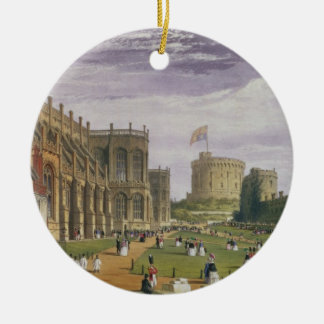 Lower Ward with a view of St George's Chapel and t Round Ceramic Decoration