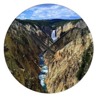 Lower Yellowstone Falls Large Clock
