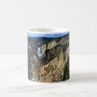 Lower Yellowstone Falls, Yellowstone National Park Basic White Mug