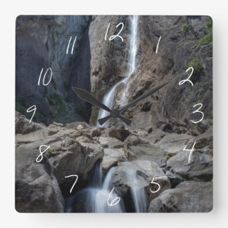 Lower Yosemite Falls Square Wall Clock