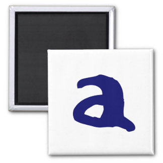 Lowercase a square magnet